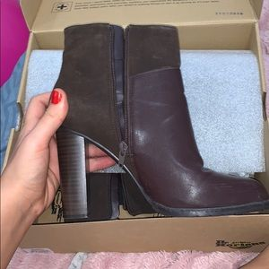 Worn Charles and Keith brown boots